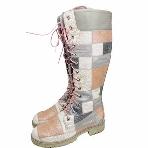 Timberland Rare Vintage Patchwork Boots